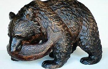 Kuma-bori Bear Carvings