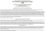 Constitution of the Empire of Japan (1889)