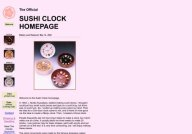Official Sushi Clock Homepage
