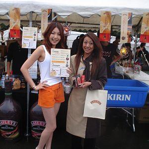 2 girls(kirin stand) at nagisha open air party in tokyo