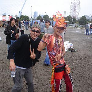 2 friends at nagisha open air party in tokyo