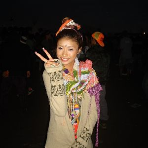 SUPERKAWAI HIPPY STYLE WOMAN at NAGISHA MUSIC FESTIVAL IN TOKYO
