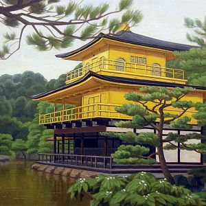 Kinkaku-JI (oil on canvas painting by yacov gabay)