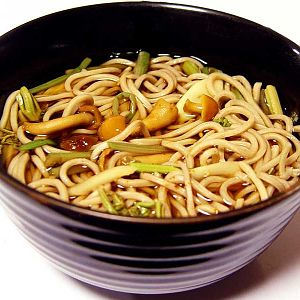 Nameko sansai soba