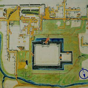 Map of Minakuchi-jo