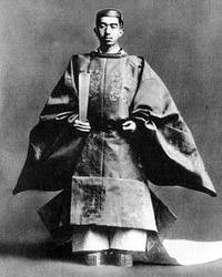 Shōwa Emperor (Hirohito), in his coronation robe