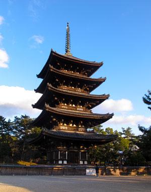 Hōryū-ji (法隆寺) in Ikaruga, Nara Prefecture