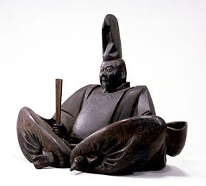 Wooden statue of Minamoto no Yoritomo