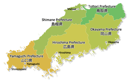 Map of Chūbu Region 中部地方