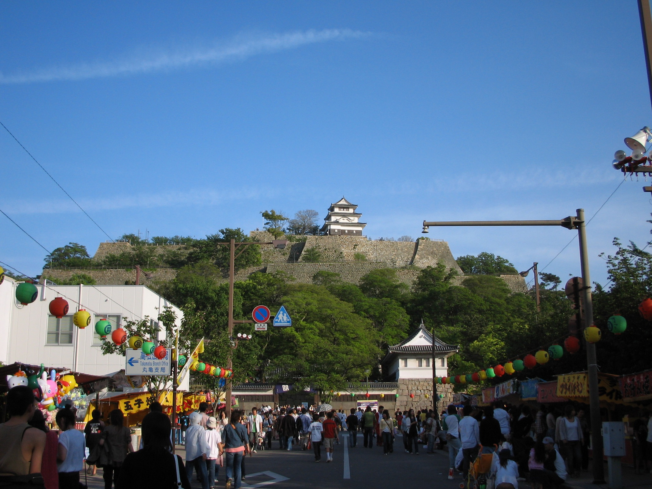 """Marugame castle"" castle festival in May"